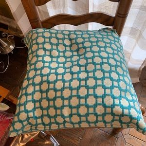 Accents - Down throw pillow turquoise and silver